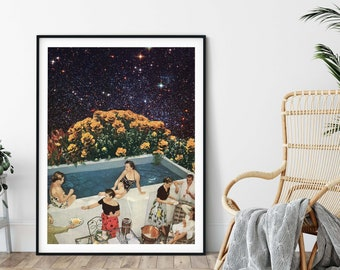 Universe print, Large print, Large wall art,  extra large wall art, large wall print, Hallway art, Livingroom art