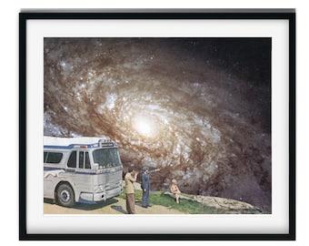 Travel print, Traveller gift, Space art, Universe, Stars, Housewarming gift