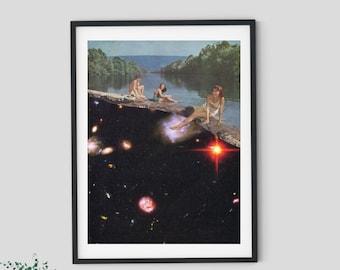 Universe prints, Feminist art, Girl power art, Nature prints, Posters, Unique wall art,16x20 print, a2 print