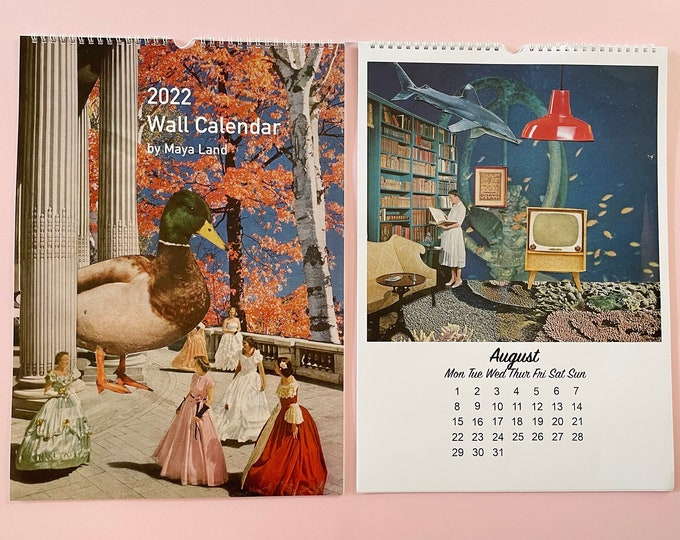 Featured listing image: 2022 Wall Calendar - Large A3 Size - 12 artworks