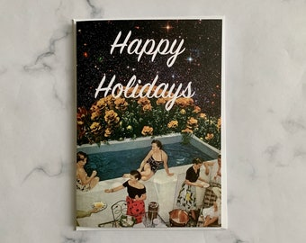 Happy Holidays card - Christmas 2020 card - Unique universe card
