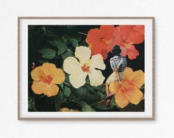 Floral print, Botanical art, Flower poster