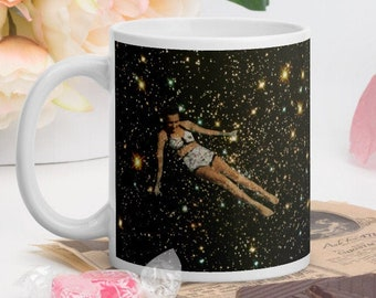 Ceramic mug, Universe coffee mug, Pottery gift, Gift for her, Birthday idea