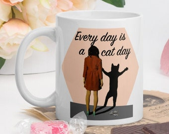 Cat mug, Crazy cat lady mug, Gifts for cat lovers, Funny cat mug