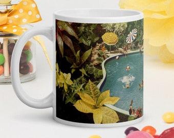 Tropical mug, Plant lady gift idea, Ceramic mug