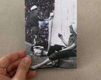Blank greeting card - art greeting card