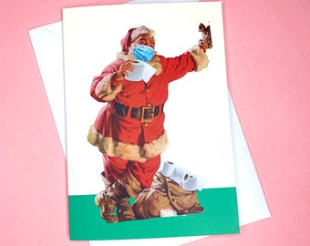 Christmas card UK - Funny Xmas card - Toilet paper roll - Santa, Father Christmas