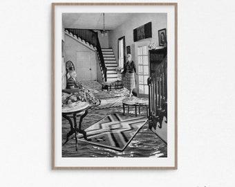 Black and white print, black and white wall art, poster, Fine art prints, prints wall art, collage art print