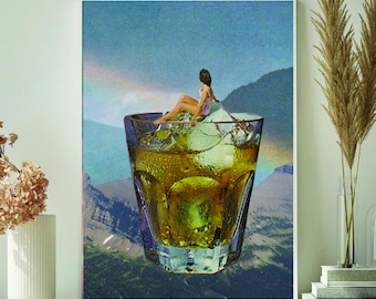 Cocktail print - Kitchen art print- Cocktail poster - Friday print