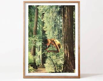 Adventure art, Nature print, Large wall art, Large prints, Forest Print,Scandinavian Prints, Home Decor