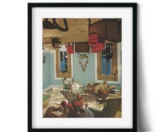 Wall art print, Art gallery decor, Unique prints, Modern interior art, Contemporary art, Vintage, Retro