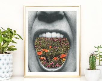Floral Print. Floral Boho Art. Botanical Art Prints. Flower Print Poster. Boho Floral Wall Art, Floral Wall Decor. Modern Wall Art.