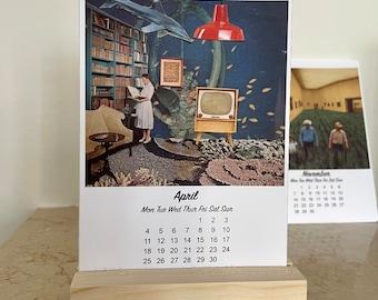 2022 Desk calendar, Desk Calendar with Stand, A6 Office Calendar, Academic Calendar, Month to View Calendar Cards
