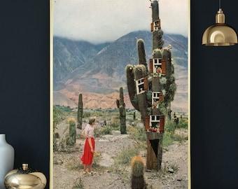 Large wall art, Oversize print, Cactus print, Botanical art, Gift for plant lover