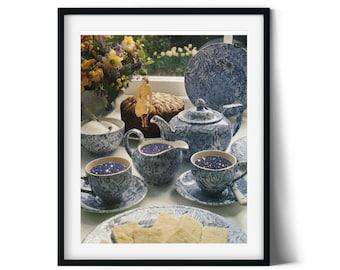 16x20, Tea cups, tea print, tea sign, tea wall art, tea art print, kitchen wall art, kitchen print, kitchen art print, kitchen poster