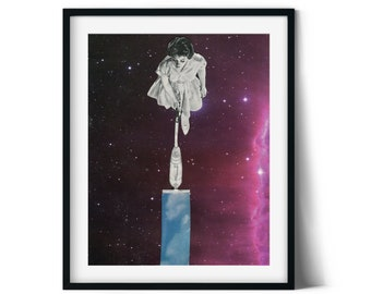 Living room wall art, Space print, Day and night art, Kitchen prints, Unique art