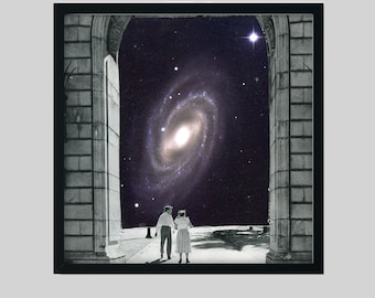 Love print, Couple art, Universe space print, Square art, 12x12 prints, gift for heR
