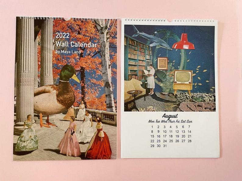 2022 Wall Calendar  Large A3 Size  12 artworks image 1
