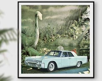 dinosaur print, dinosaur print funny, dinosaur gift. dinosaur decor, green print, adventure print, vintage poster