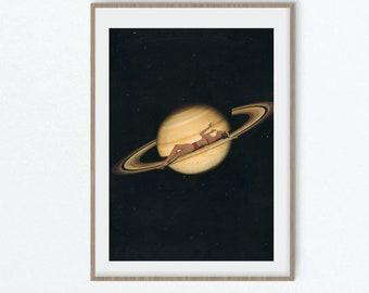 Universe art, Girly bedroom prints, Fashion and makeup art, Saturn