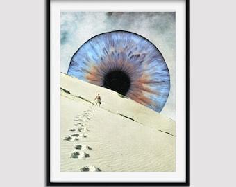 Eye print, Inspirational art, Desert wall art decor