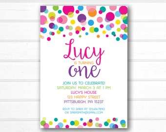 polka dot invitation etsy