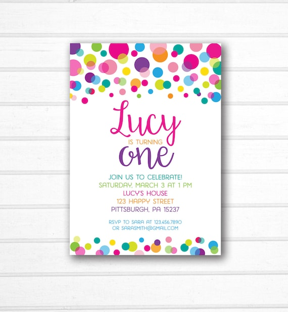 rainbow polka dot invitation polka dot birthday invitation