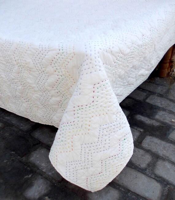 Pale Pink Running Stitch Chevron Stripe 100/% Cotton Zig Zag Fabric  Patchwor