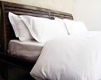 300TC Queen Duvet cover, pure cotton, white colour 80X90 inches.