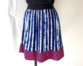 Phish Blue Striped Skirt - Fishman - Medium
