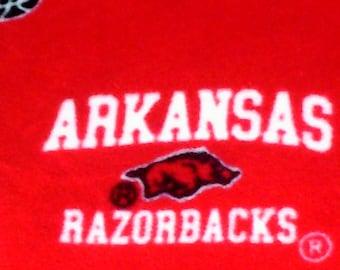 University Arkansas Razorbacks Hogs Fleece Throw