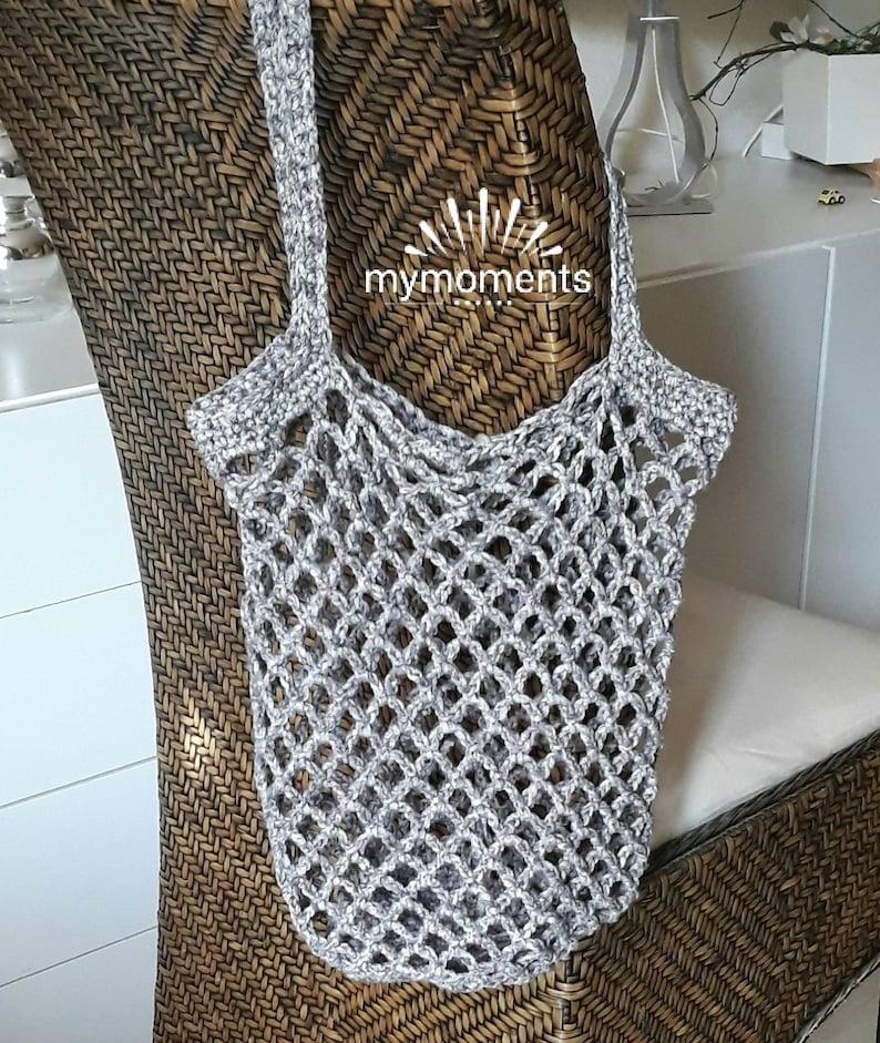 Shopping Bag no plastic bags medium gray Cotton shoulder bag hand bag tote bag