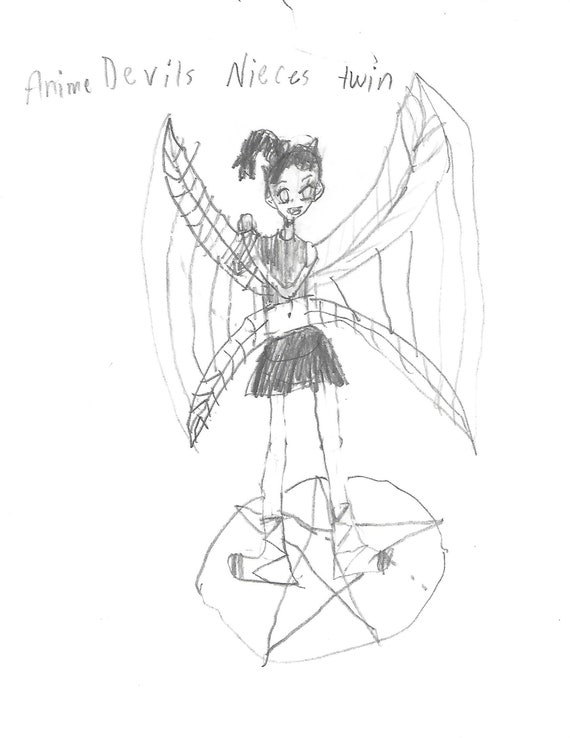 Handmade Anime Drawings Digital Etsy