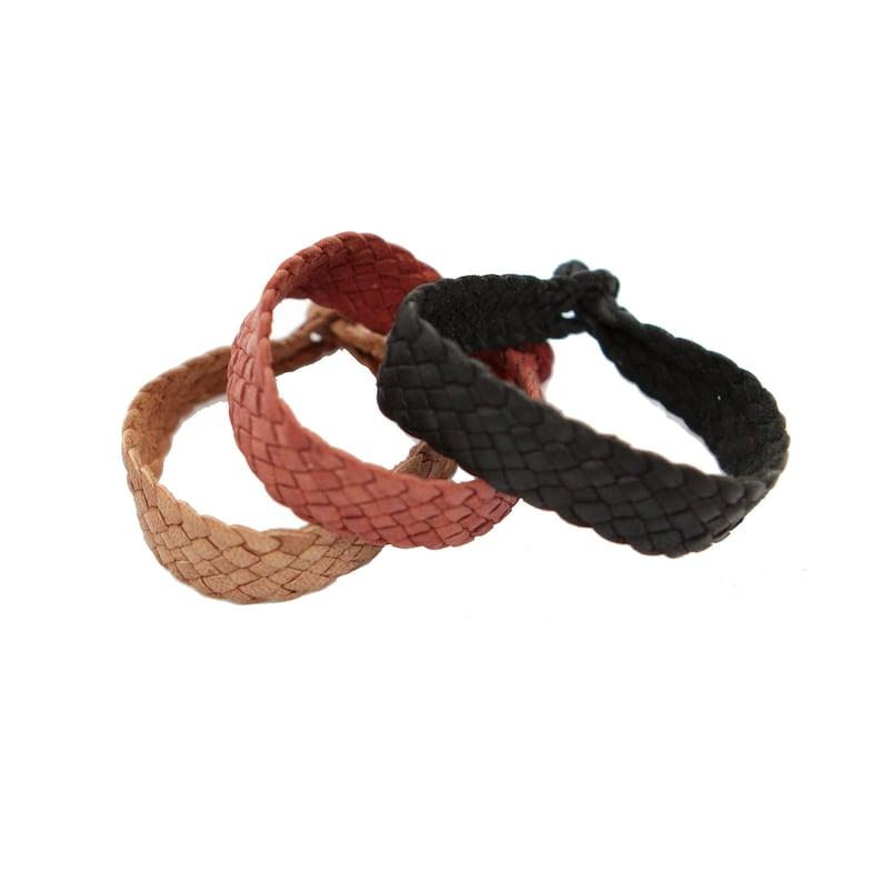 Handmade Soft Leather Braided Bracelet   Mexican Bracelet    5b59ade37