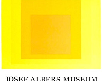 JOSEPH ALBERS - original vintage exhibition poster - c1990s - rare (Limited first edition. Josef Albers Museum)