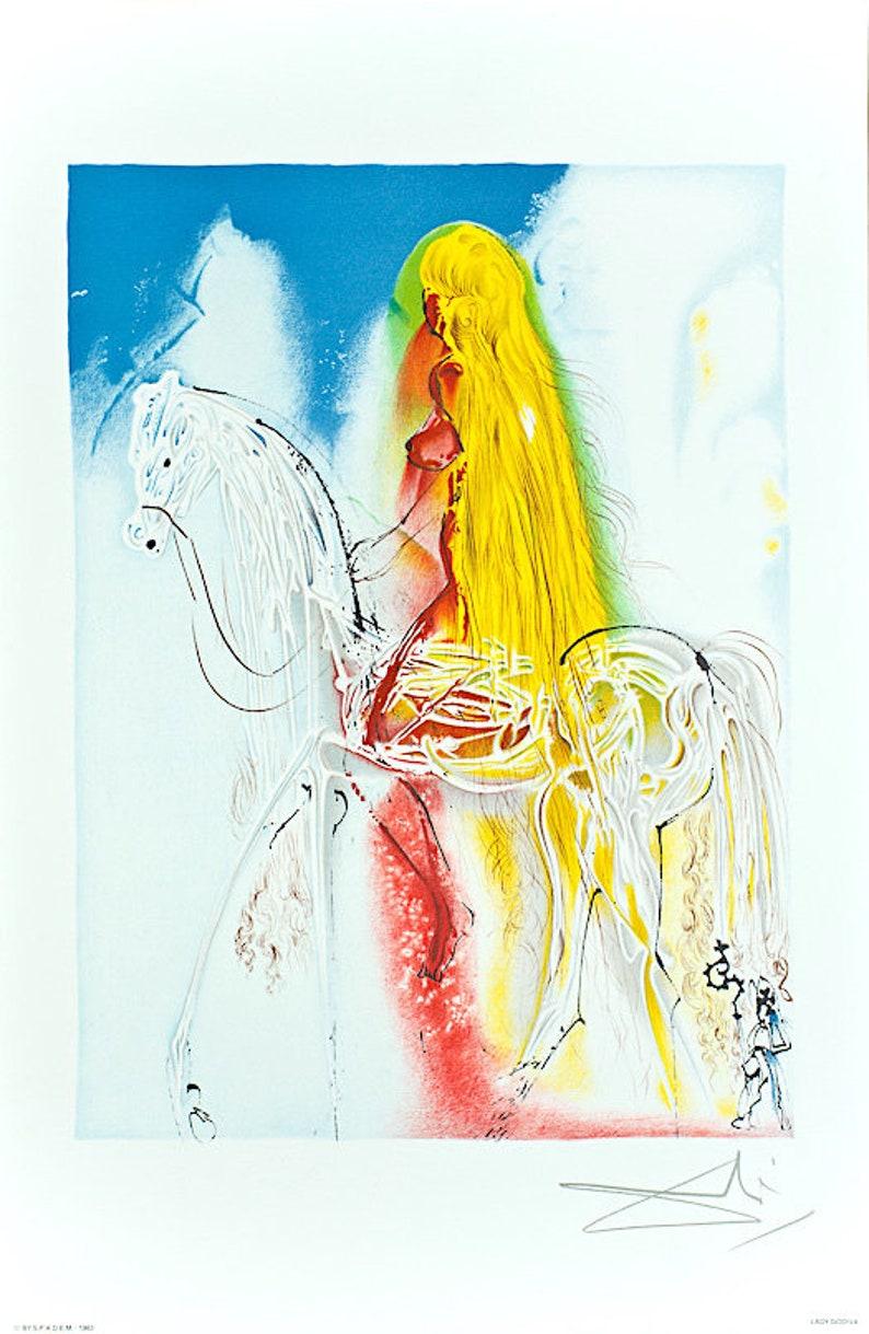 SALVADOR DALI Signed Dalinean Horse CHEVAL DE LABEUR Georges Israel SPADEM 1983