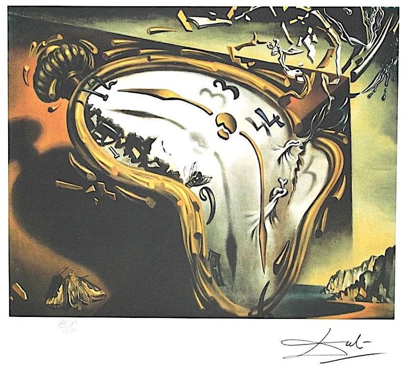 beaucoup de choix de liquidation à chaud modélisation durable SALVADOR DALI - 'Les montres molles, 1937' - hand numbered vintage  lithograph - c1980 - large (Limited edition. Atelier Jobin, Paris)