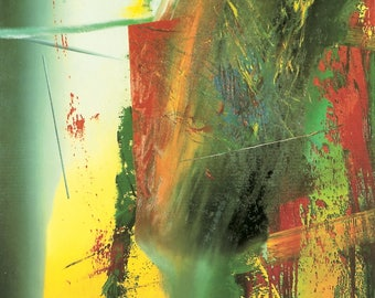 GERHARD RICHTER - 'DG' - rare original lithographic print - c1991 - very large (Collection of Contemporary Art, Germany) ex