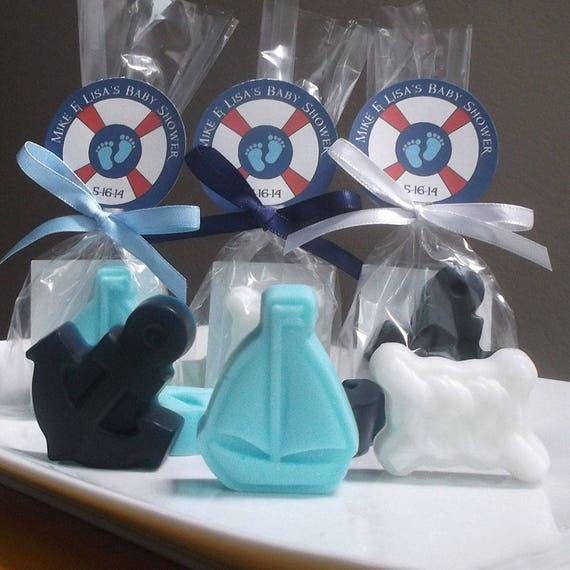 Ahoy Its A Boy Nautical Baby Shower Favors Baby Shower Boy Set