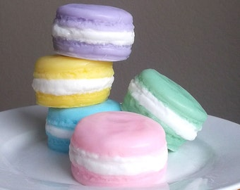 Macaroon Soap - French Macaron, Mothers Day Gift, Dessert Soap, Gift for Teacher Appreciation, Bridesmaid Gift - Set of 2