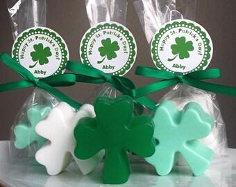 Unique Wedding Favor - Irish Wedding Favors, Irish Party Favor, St Patricks Day Wedding, Bridal Shower Gifts, Shamrock Soap - Set of 10