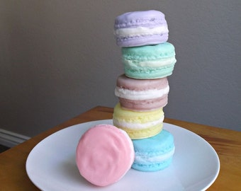 Macaroon Soap - French Macaron, Mothers Day Soap Gift, Dessert Soap, Gift for Teacher Appreciation, Bridesmaid Gift - Set of 2