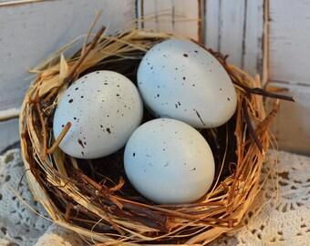 Decorative Spring Egg Nests Robin's Egg