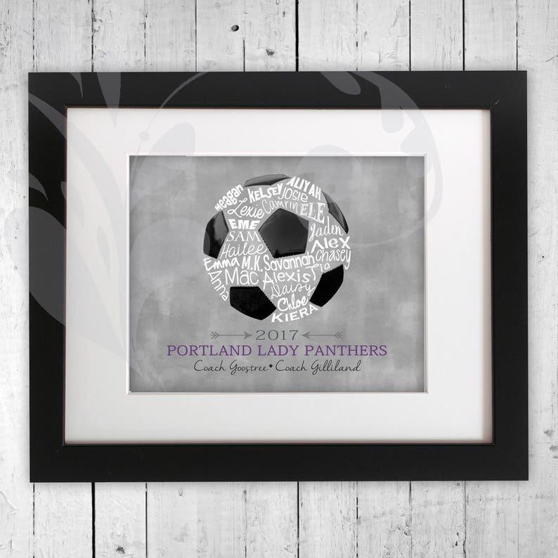 a80b6f8ed Soccer Ball Word Art Coach Thank You Gift Fútbol Team