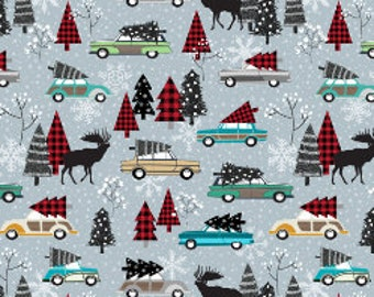 vintage christmas fabric by the yard cotton christmas tree on cars quilting fabric trees holiday christmas cotton by the yard 7887320 - Vintage Christmas Fabric