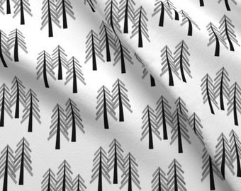 a4cd6f55831 Forest Tree Fabric by the Yard Cotton Quilting Fabric Woodland Pine Trees  Woods Nursery Organic Cotton Knit Minky Childrens Fabric 7157938