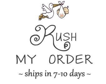 RUSH My ORDER - Ships in 7 - 10 business days - Blankets only | Expedites Printing & Finishing ONLY, Not Delivery