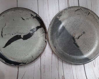 Set of two Handmade Stoneware Ceramic Side Plates in choice of glazes