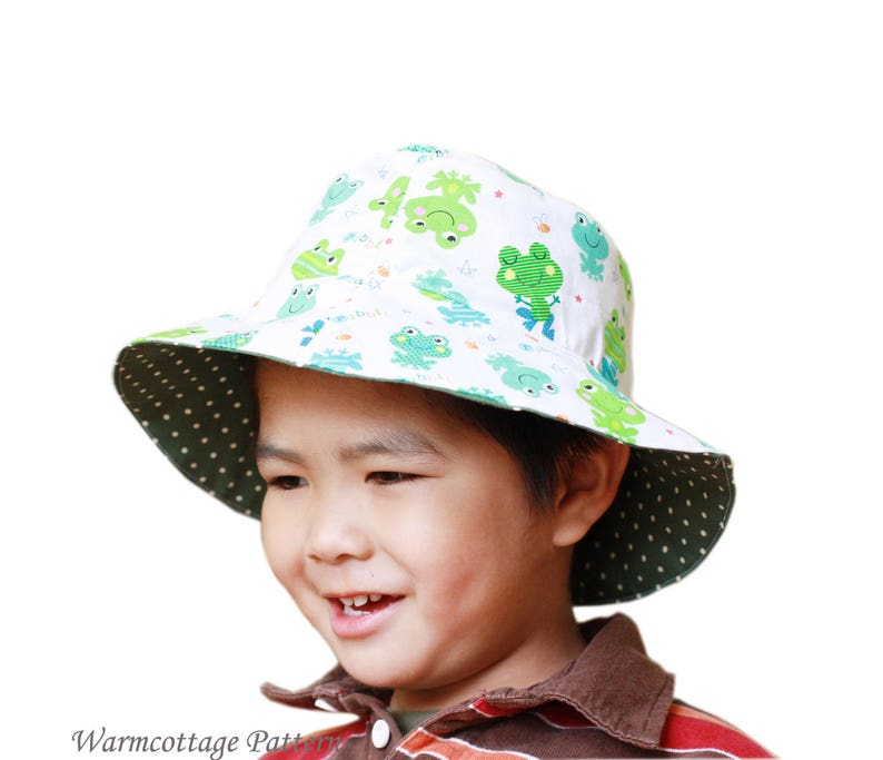 Sun hat pattern Baby Toddler Children kid Reversible PDF  40429ec4b9d7