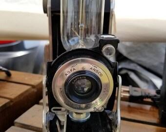 Agfa Ansco Folding Camera Edison Accent Lamp